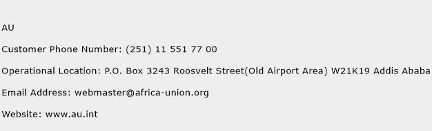 AU Phone Number Customer Service