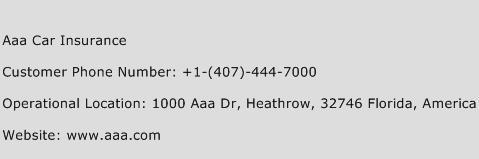 Aaa Car Insurance Phone Number Customer Service