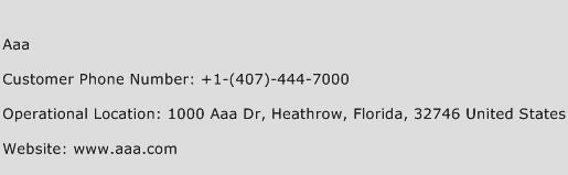 Aaa Phone Number Customer Service