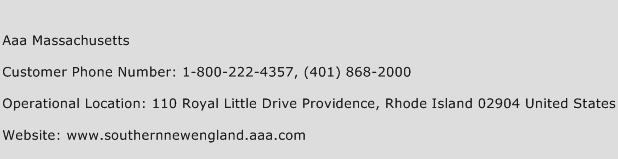 Aaa Massachusetts Phone Number Customer Service