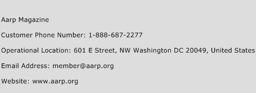 Aarp Magazine Phone Number Customer Service