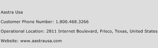 Aastra USA Phone Number Customer Service
