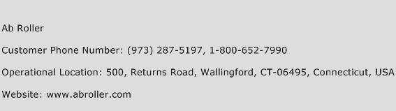Ab Roller Phone Number Customer Service