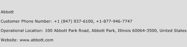 Abbott Phone Number Customer Service