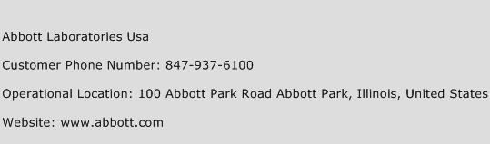 Abbott Laboratories Usa Phone Number Customer Service