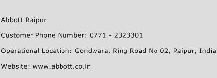 Abbott Raipur Phone Number Customer Service
