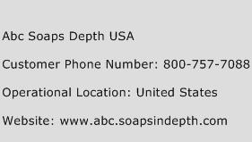 Abc Soaps Depth USA Phone Number Customer Service