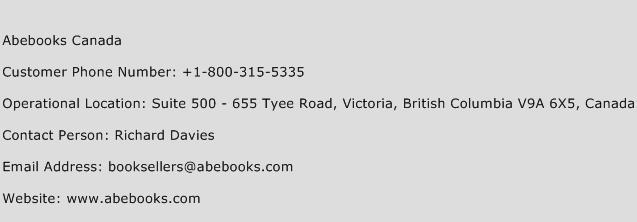 Abebooks Canada Phone Number Customer Service