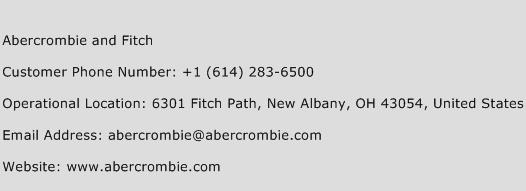 Abercrombie And Fitch Phone Number Customer Service