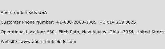 Abercrombie Kids USA Phone Number Customer Service