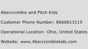 Abercrombie and Fitch Kids Phone Number Customer Service
