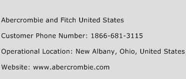 Abercrombie and Fitch United States Phone Number Customer Service