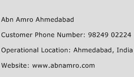 Abn Amro Ahmedabad Phone Number Customer Service