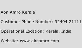 Abn Amro Kerala Phone Number Customer Service