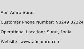 Abn Amro Surat Phone Number Customer Service