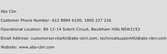 Abs Cbn Phone Number Customer Service