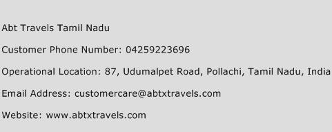Abt Travels Tamil Nadu Phone Number Customer Service