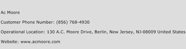 Ac Moore Phone Number Customer Service