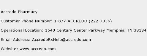 Accredo Pharmacy Phone Number Customer Service