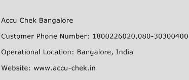 Accu Chek Bangalore Phone Number Customer Service
