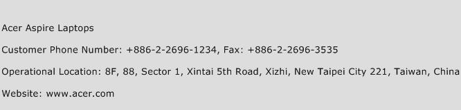Acer Aspire Laptops Phone Number Customer Service