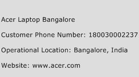 Acer Laptop Bangalore Phone Number Customer Service