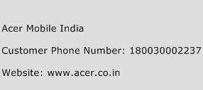 Acer Mobile India Phone Number Customer Service