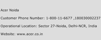 Acer Noida Phone Number Customer Service