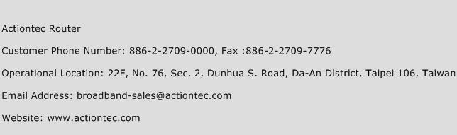 Actiontec Router Phone Number Customer Service