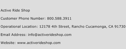 Active Ride Shop Phone Number Customer Service
