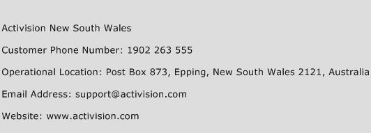 Activision New South Wales Phone Number Customer Service