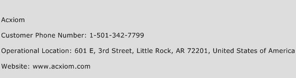 Acxiom Phone Number Customer Service