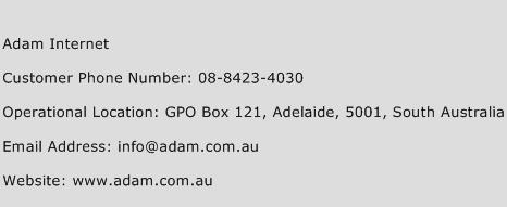 Adam Internet Phone Number Customer Service