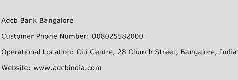 Adcb Bank Bangalore Phone Number Customer Service
