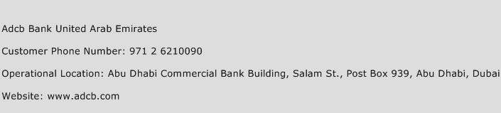 adcb bank united arab emirates customer care number toll. Black Bedroom Furniture Sets. Home Design Ideas