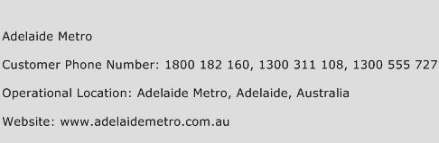 Adelaide Metro Phone Number Customer Service