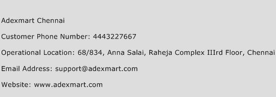 Adexmart Chennai Phone Number Customer Service