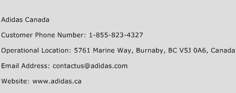 Adidas Canada Phone Number Customer Service