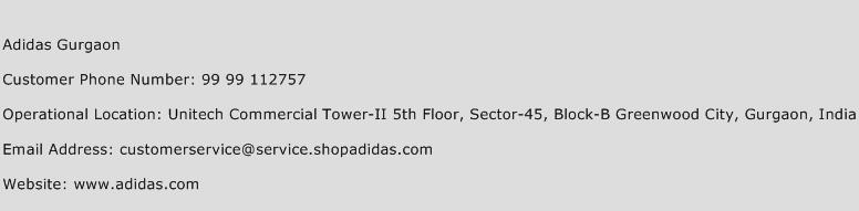 Adidas Gurgaon Phone Number Customer Service