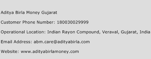 Aditya Birla Money Gujarat Phone Number Customer Service