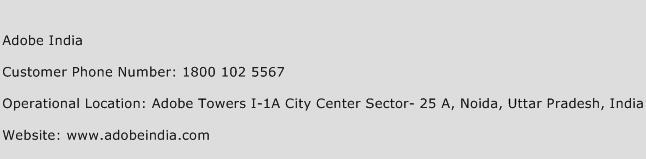 Adobe India Phone Number Customer Service