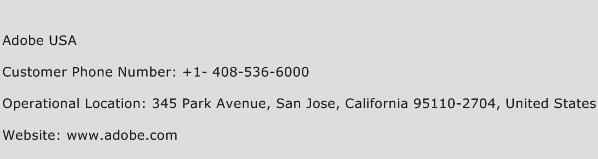 Adobe USA Phone Number Customer Service