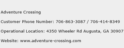 Adventure Crossing Phone Number Customer Service