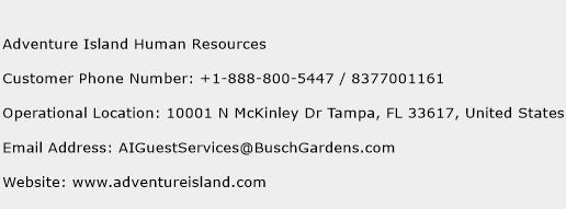 Adventure Island Human Resources Phone Number Customer Service