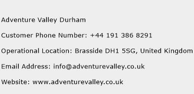 Adventure Valley Durham Phone Number Customer Service