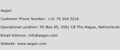 Aegon Phone Number Customer Service