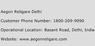 Aegon Religare Delhi Phone Number Customer Service