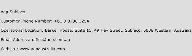 Aep Subiaco Phone Number Customer Service