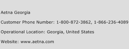 Aetna Georgia Phone Number Customer Service