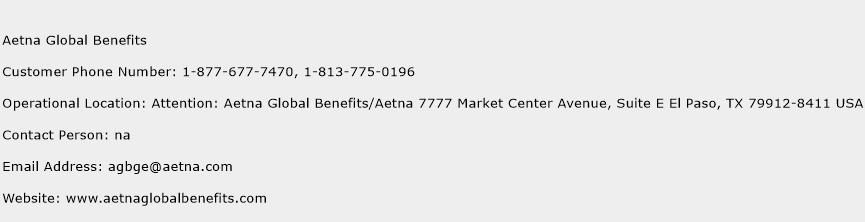 Aetna Global Benefits Phone Number Customer Service